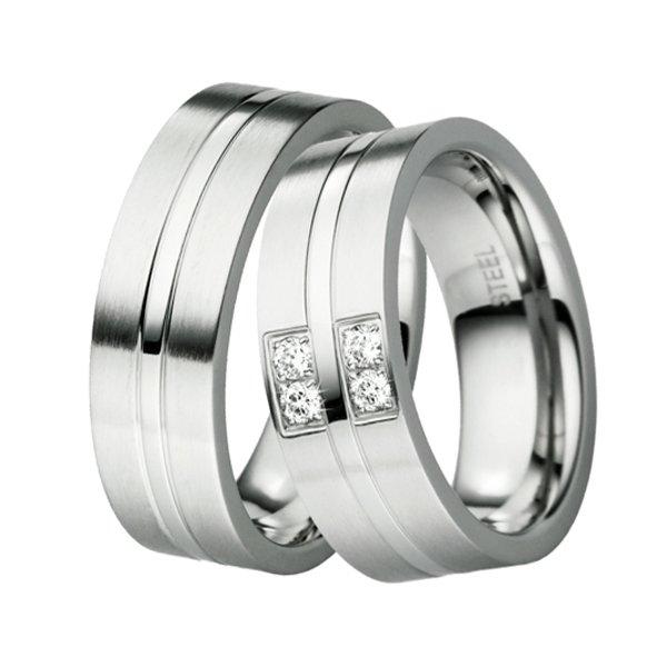 Ocelové snubní prsteny ST-88042