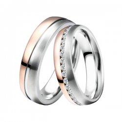 Ocelové snubní prsteny ST-88078