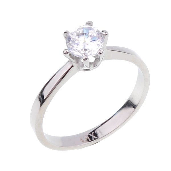 Ocelový prsten se zirkonem 232680