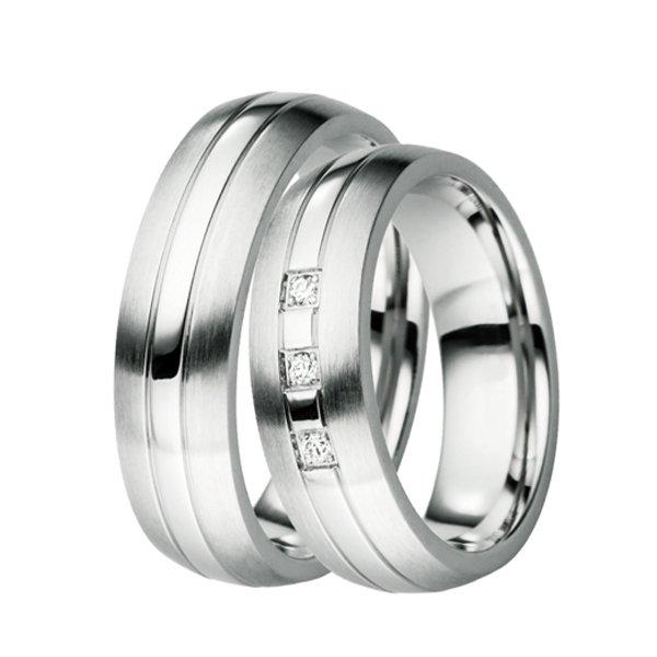 Ocelové snubní prsteny ST-88039