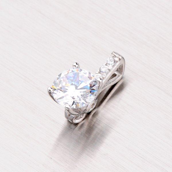 Stříbrný přívěsek se zirkonem PXX07140088
