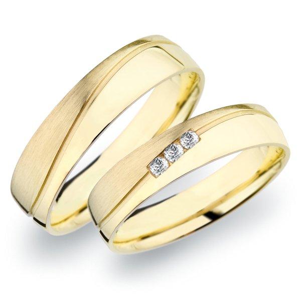 SP-281 Snubní prsteny ze žlutého zlata SP-281