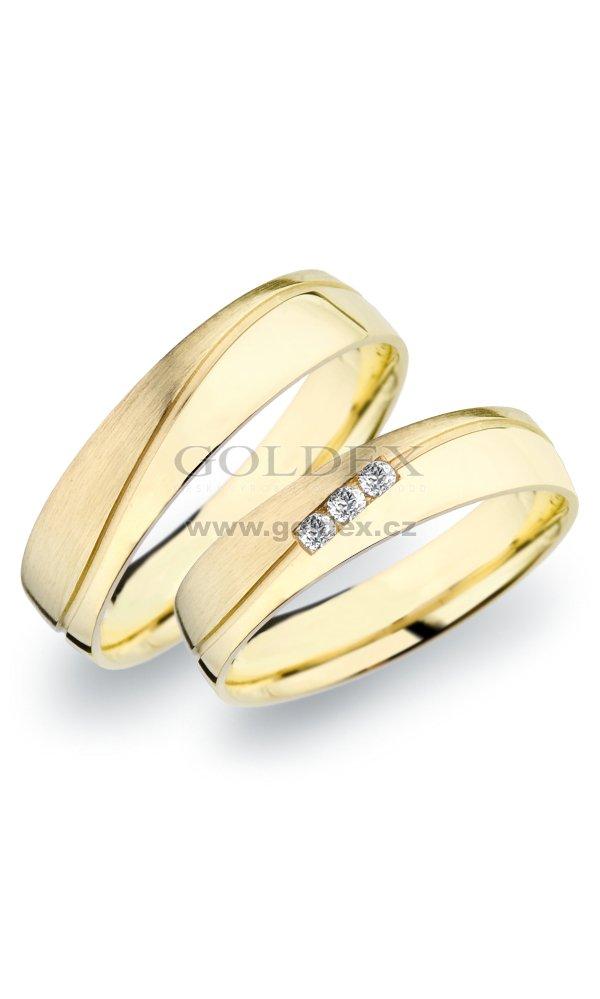 Sp 281 Snubni Prsteny Ze Zluteho Zlata Sp 281 Goldex Cz