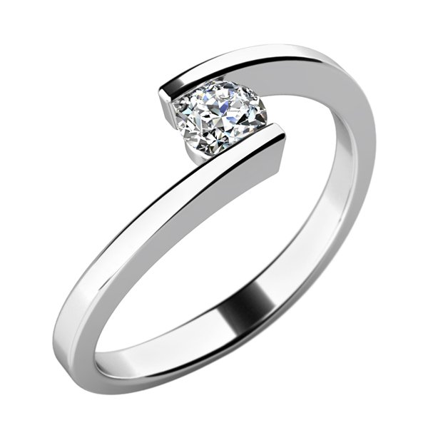 Dámský prsten s diamantem 10762D