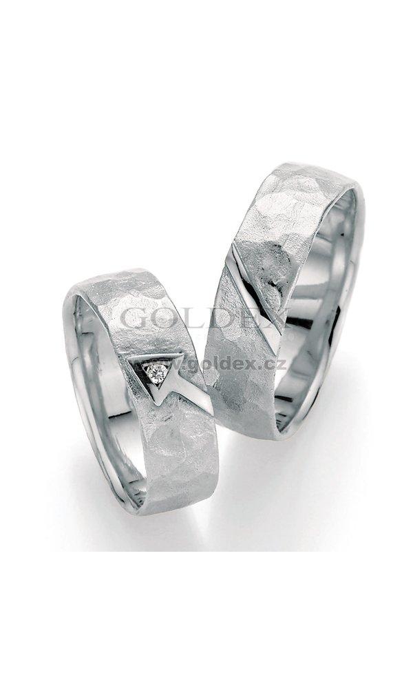 Stribrne Snubni Prsteny S Diamantem Sp 51010 Goldex Cz