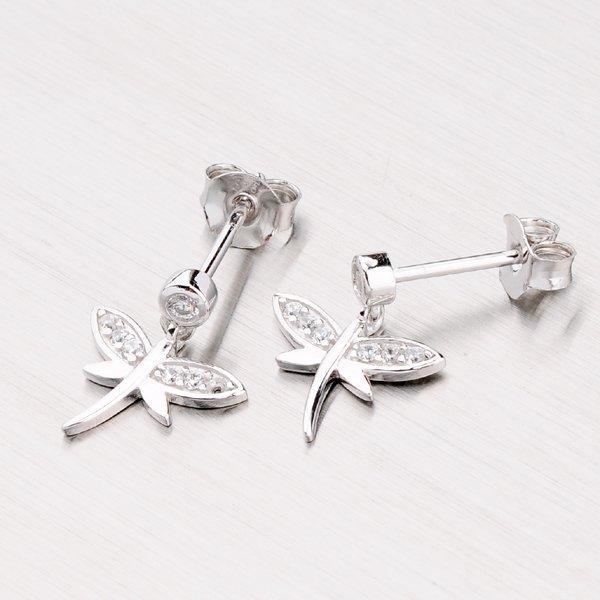 Stříbrné náušnice - vážky EXX07150168