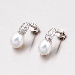 Stříbrné náušnice s perlami EXX01140211