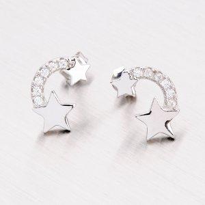 Stříbrné náušnice - hvězdičky EXX02140214