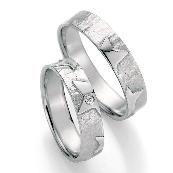 Stříbrné snubní prsteny s diamantem SP-51130