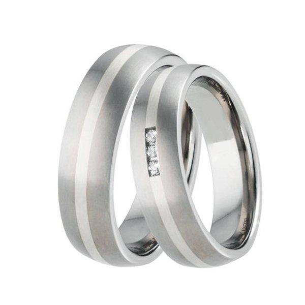 Titanové snubní prsteny TS-88001