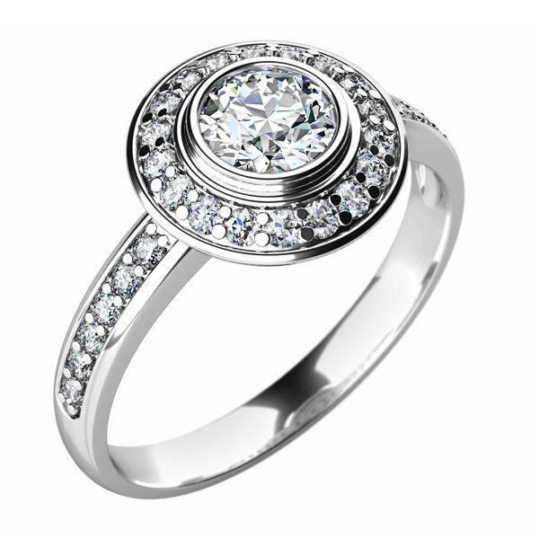 Dámský prsten s diamanty 10765D