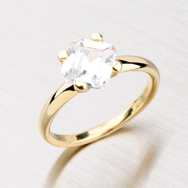 Zlatý prsten s výrazným zirkonem GZ2269
