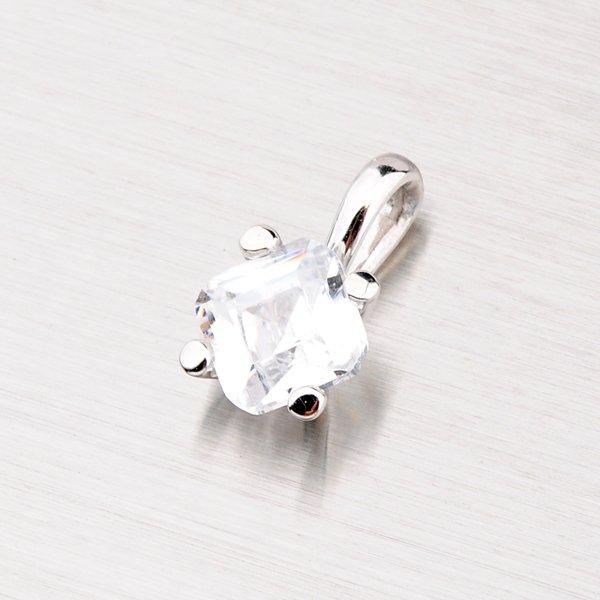 Přívěsek se zirkonem z bílého zlata GZ2271B