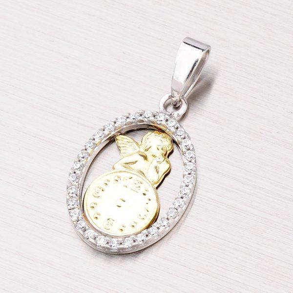 Zlatý přívěsek křtící hodiny 43-21059