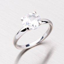 Prsten z bílého zlata s výrazným zirkonem GZ2269B