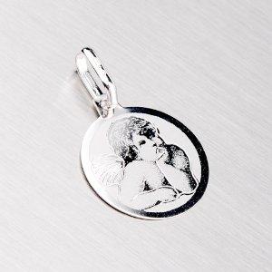 Destička z bílého zlata - andělíček 43-21030