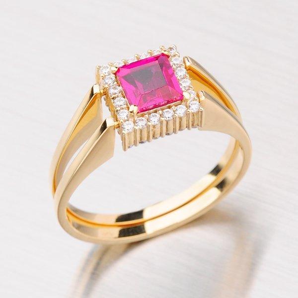 Originální zlatý prsten s měnícím zirkonem 141-0454