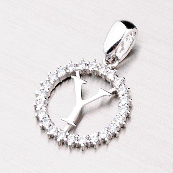 Stříbrné písmenko se zirkony - Y MPN5192-Y