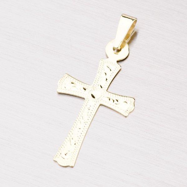 Zlatý gravírovaný kříž 322-0111