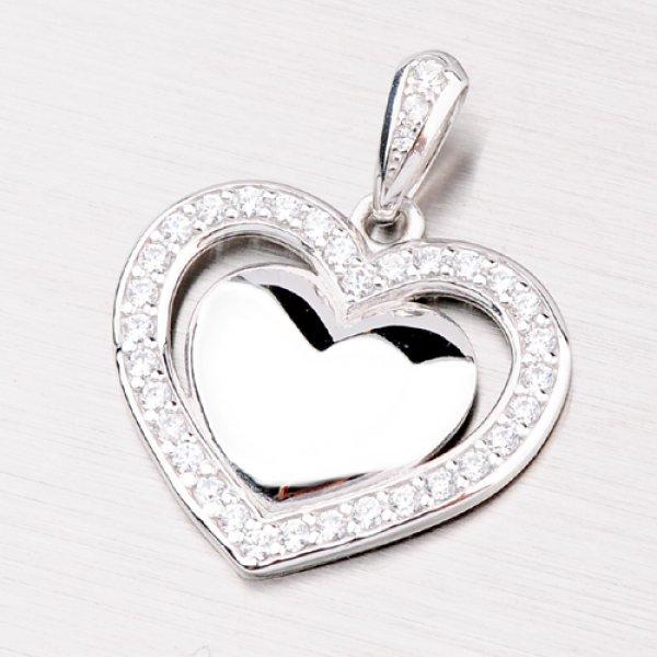 Srdce z bílého zlata DZ2405B