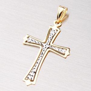 Zlatý gravírovaný křížek 43-2084