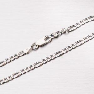 Stříbrný řetízek Figaro 3+1 CHRS-073-080-FLAT