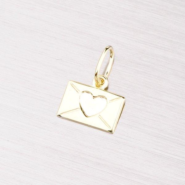 Přívěsek ze srdcem ze žlutého zlata 322-1101