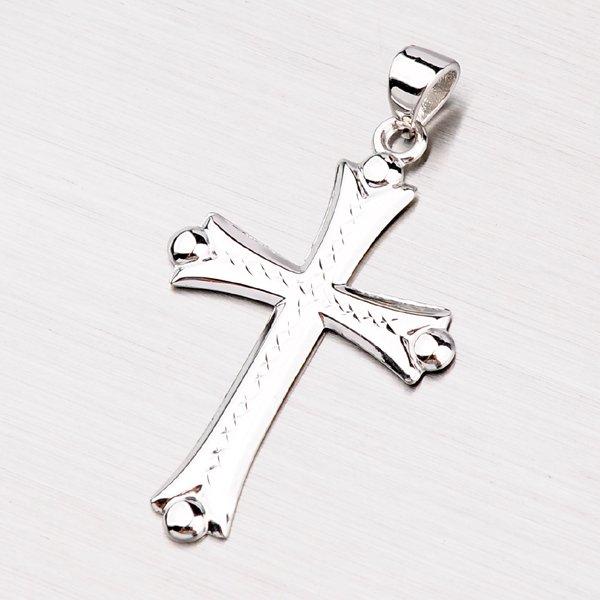 Kříž z bílého zlata 147-0640