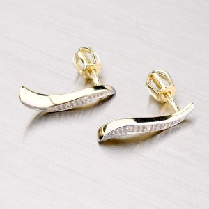 Zlaté visací náušnice DZ1665