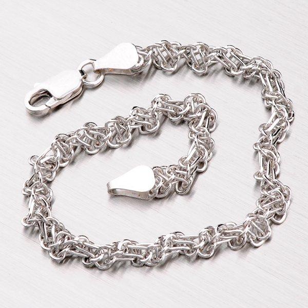 Kroucený náramek ze stříbra OTTN-060-Rh