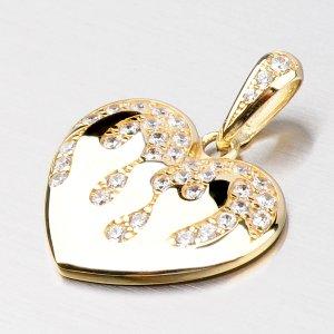 Velké zlaté srdce se zirkony DZ2403ZL