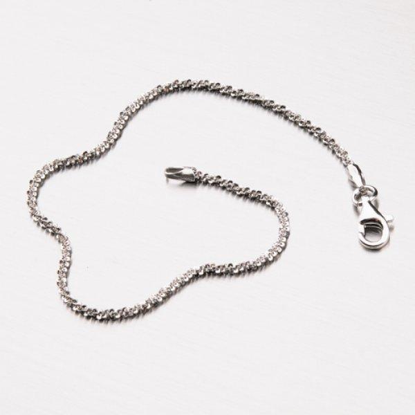 Stříbrný náramek s rhodiováním CHRS-ROCK-030-Rh
