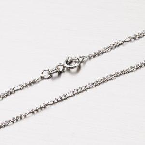 Stříbrný řetízek Figaro 3+1 CHRS-073-040-RH