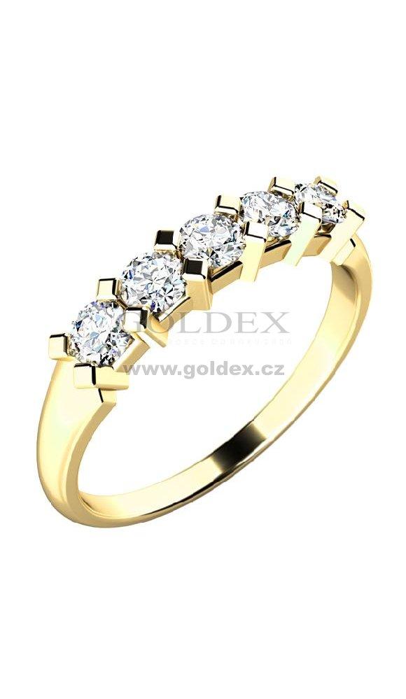 5d4f43000 Zásnubní prsten zlatý se zirkony ZP-10774 : Goldex.cz