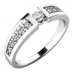 Úchvatný zásnubní prsten se zirkony ZP-10775