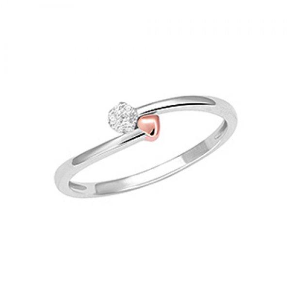 Prsten s brilianty v bílém zlatě GKP57121