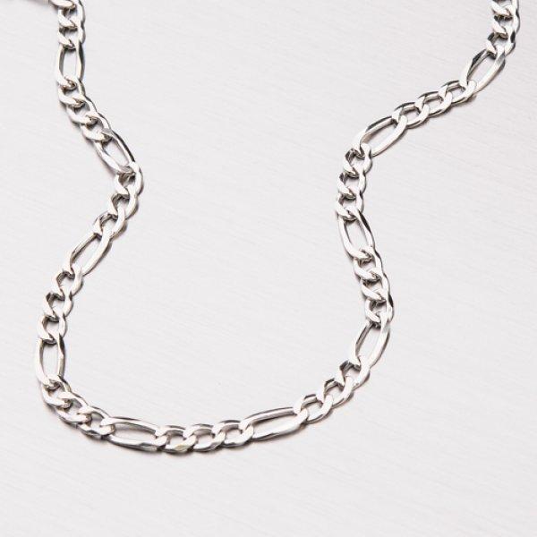 Stříbrný řetízek Figaro 3+1 CHRS-073R-080-FLAT-Rh