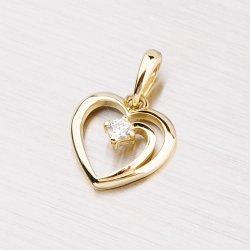 Srdíčko ze žlutého zlata DZ1602ZL