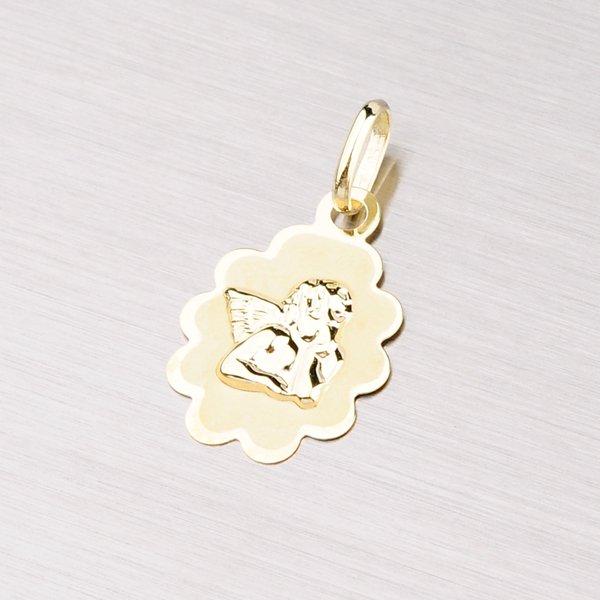 Přívěsek s andělíčkem ze žlutého zlata 43-2747