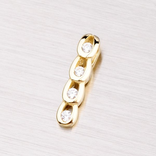 Elegantní přívěsek ze žlutého zlata DZ1683Z