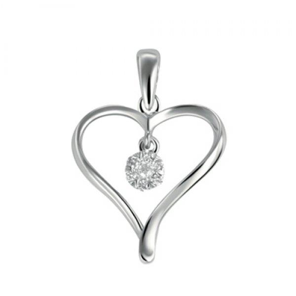 Zlatý briliantový přívěšek - srdce GKW46431