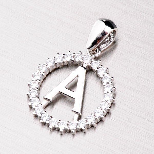 Stříbrné písmenko se zirkony - A MPNZ5057-A