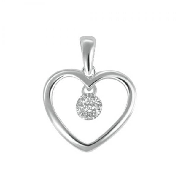 Srdce s brilianty - přívěsek GKW46430