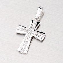 Zlatý křížek se zirkony 43-2614