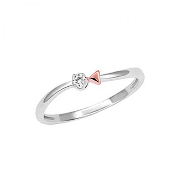 Prsten z bílého zlata s briliantem GKW57281PW