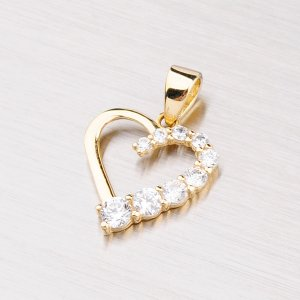 Zlatý přívěsek - srdce 43-21171