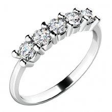 Zásnubní prsten s pěti zirkony ZP-10773