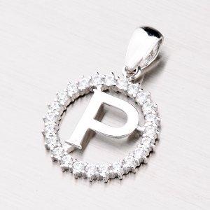 Stříbrné písmenko se zirkony - P MPNZ5057-P