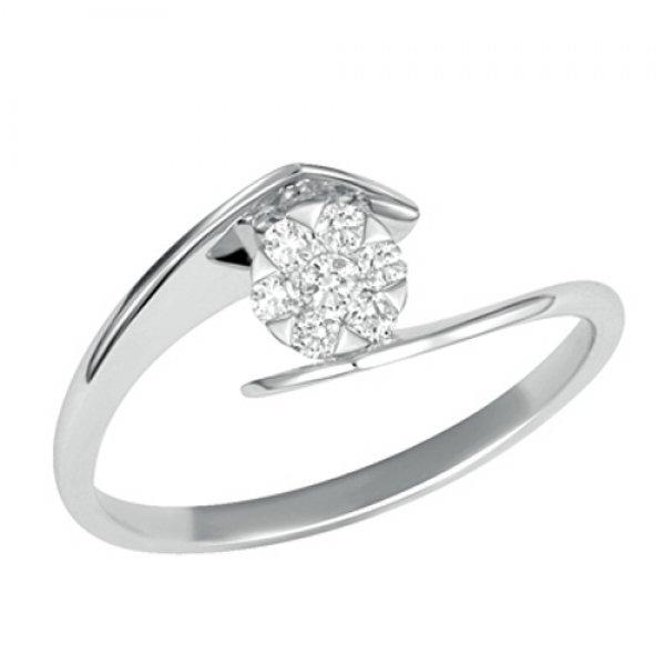 Prsten z bílého zlata s brilianty GKW46415