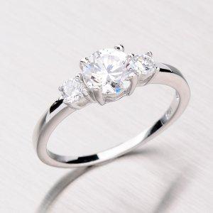 Rhodiovaný prsten ze stříbra RXC02130084